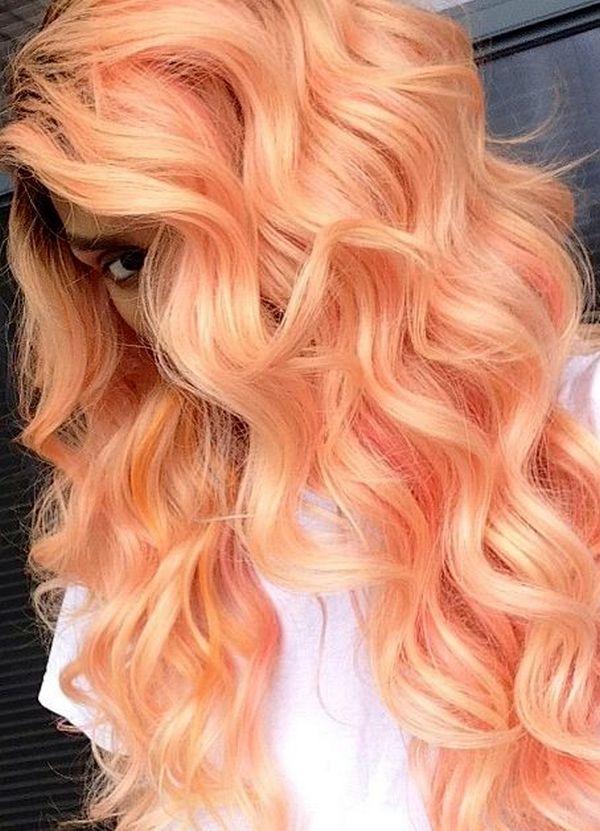 Персиковый цвет краски для волос