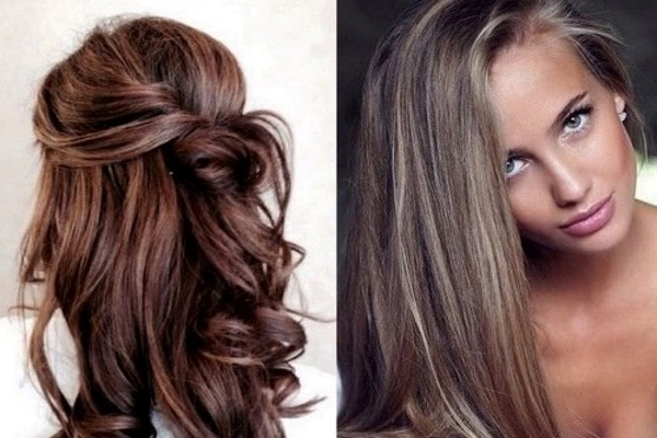 прическа вечерняя для русых волос