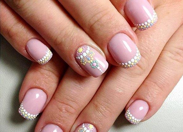 фото точечные рисунки на ногтях