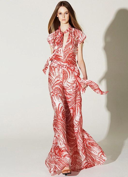 Фасон платья в пол из шифона