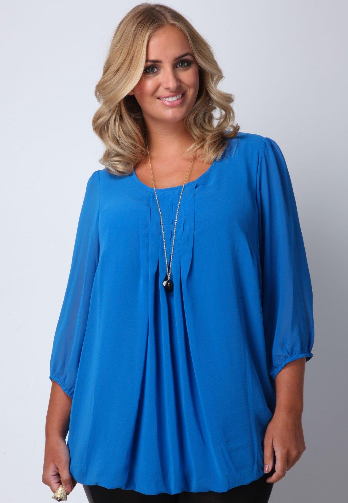 Фасон летних блузок для полных женщин