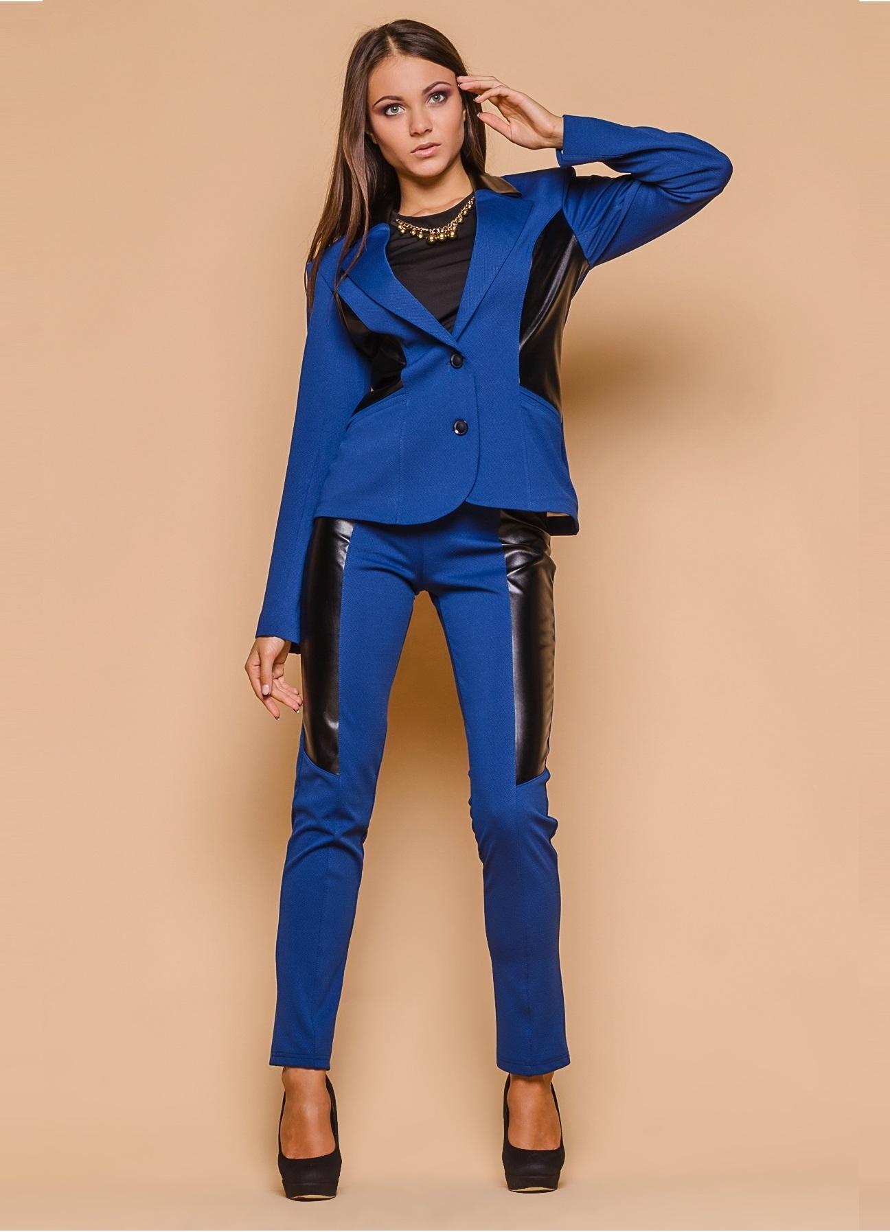 Синий деловой костюм женский с доставкой