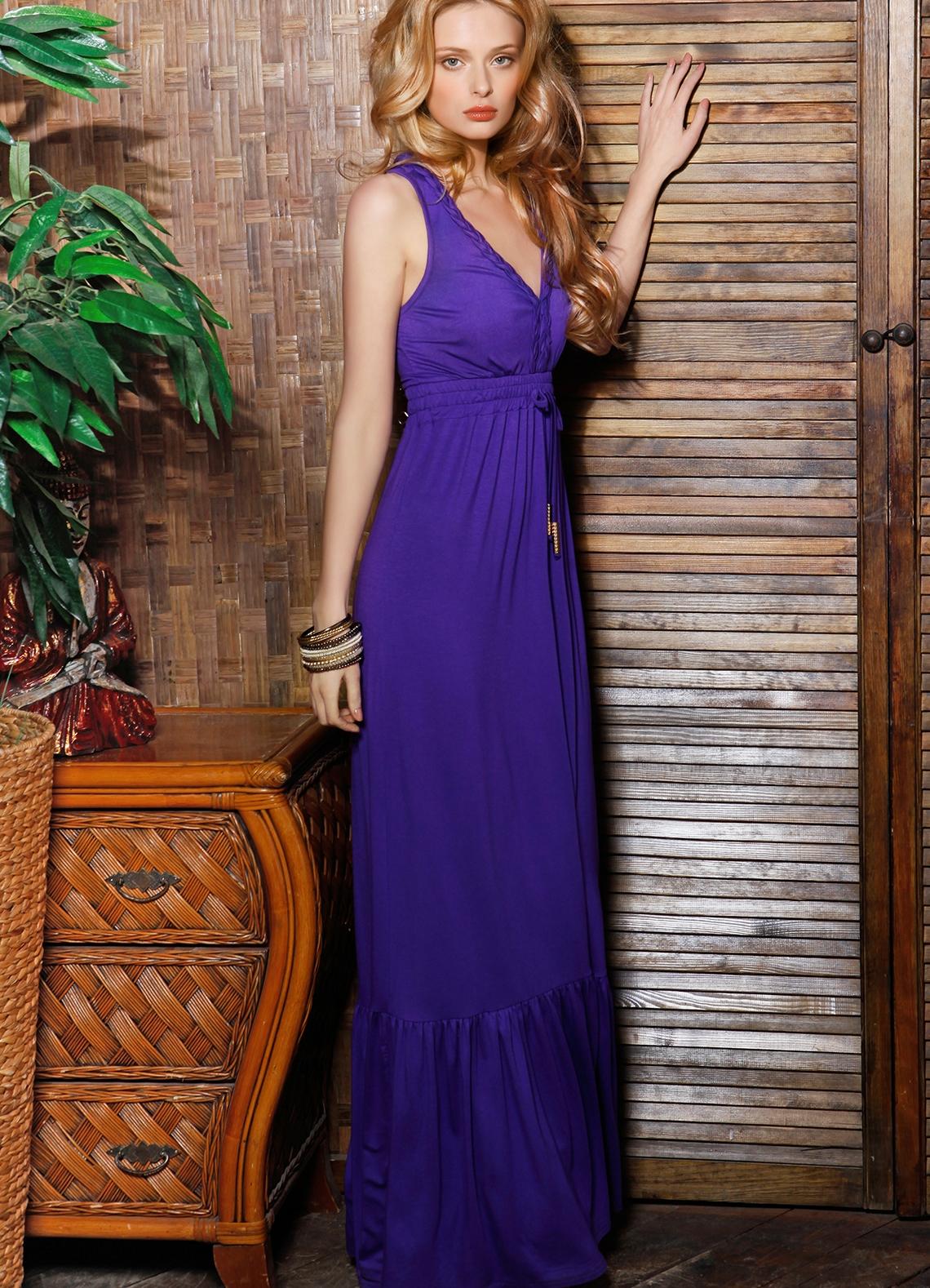 Длинное платье из вискозы фото