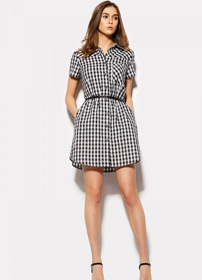 Цветочное платье рубашка