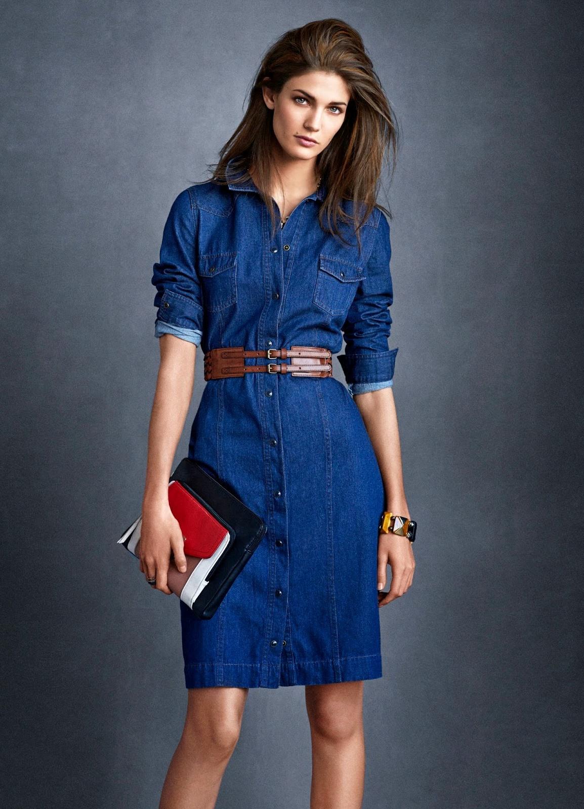 Платья джинс