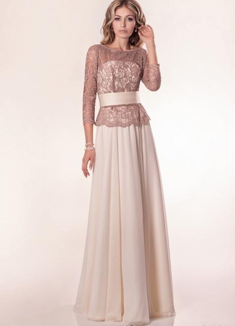 Платья кремового цвета длинные