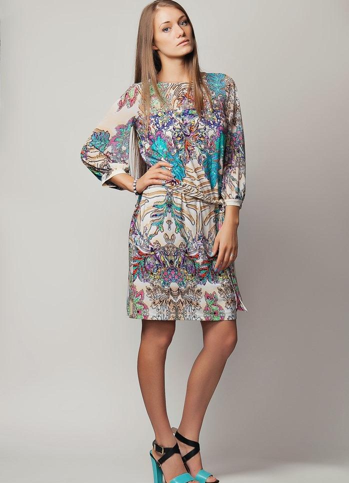 Цветные платья из вискозы