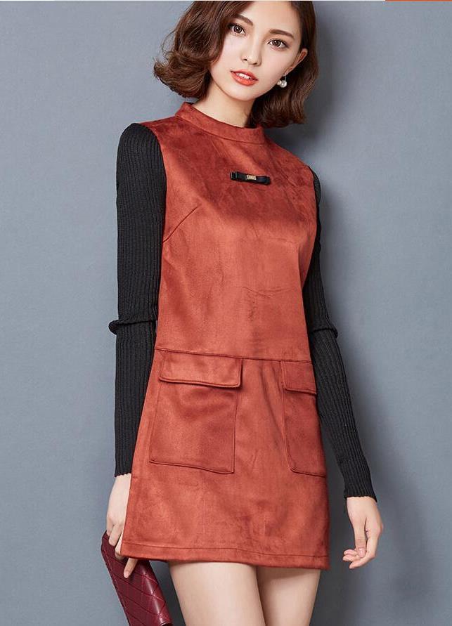 Фото платье из искусственной замши