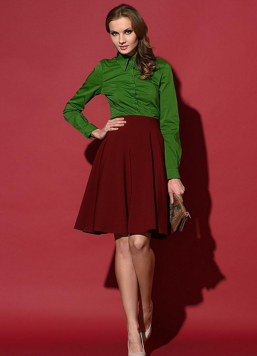 Бордовые юбки полусолнце