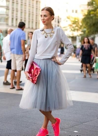 С чем можно носить юбку из фатина