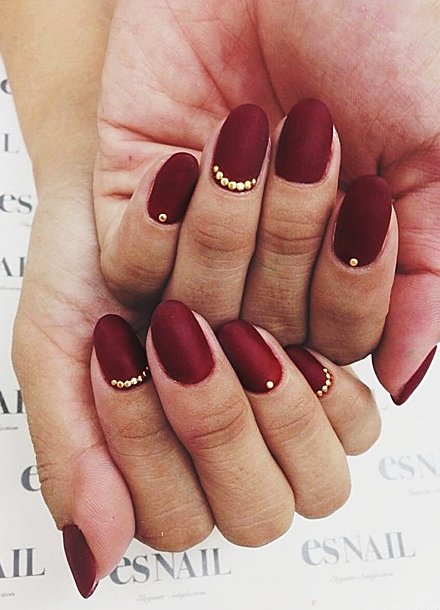 Фото ногти цвет бордо