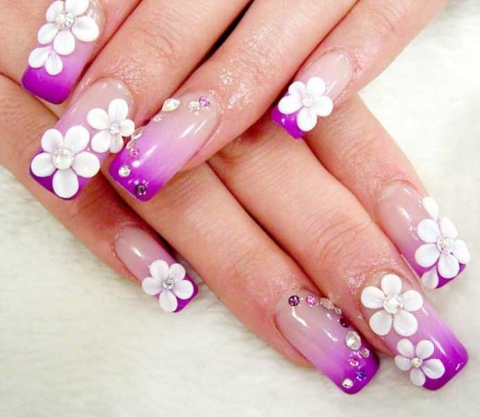 Дизайн нарощенных ногтей шеллак