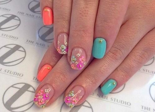 Дизайн ногтей шеллак лето