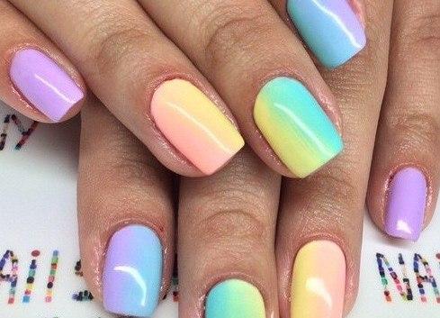 ногти яркие фото 2016
