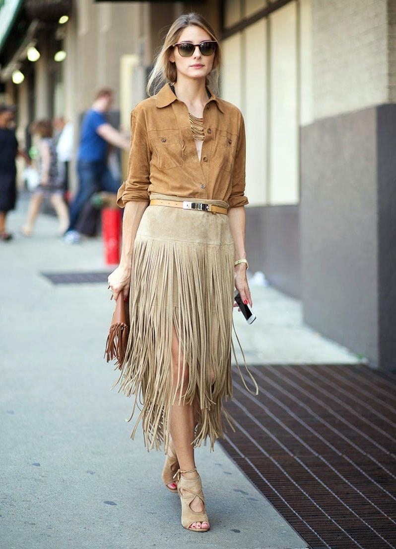 Замшевые юбка с чем носить