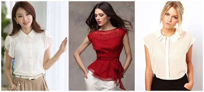 Женские Блузки В 2017 Году Фасоны