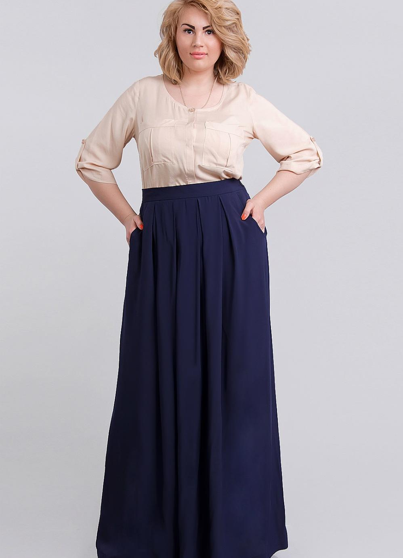 Длинная юбка для полных девушек фото