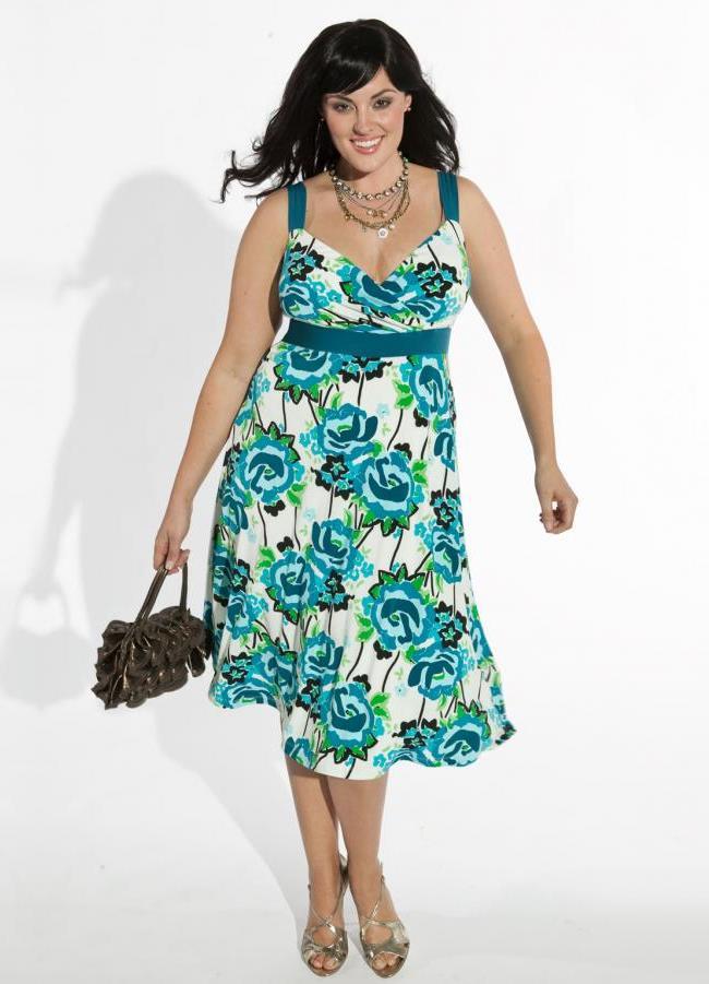 Летние платья на полных женщин