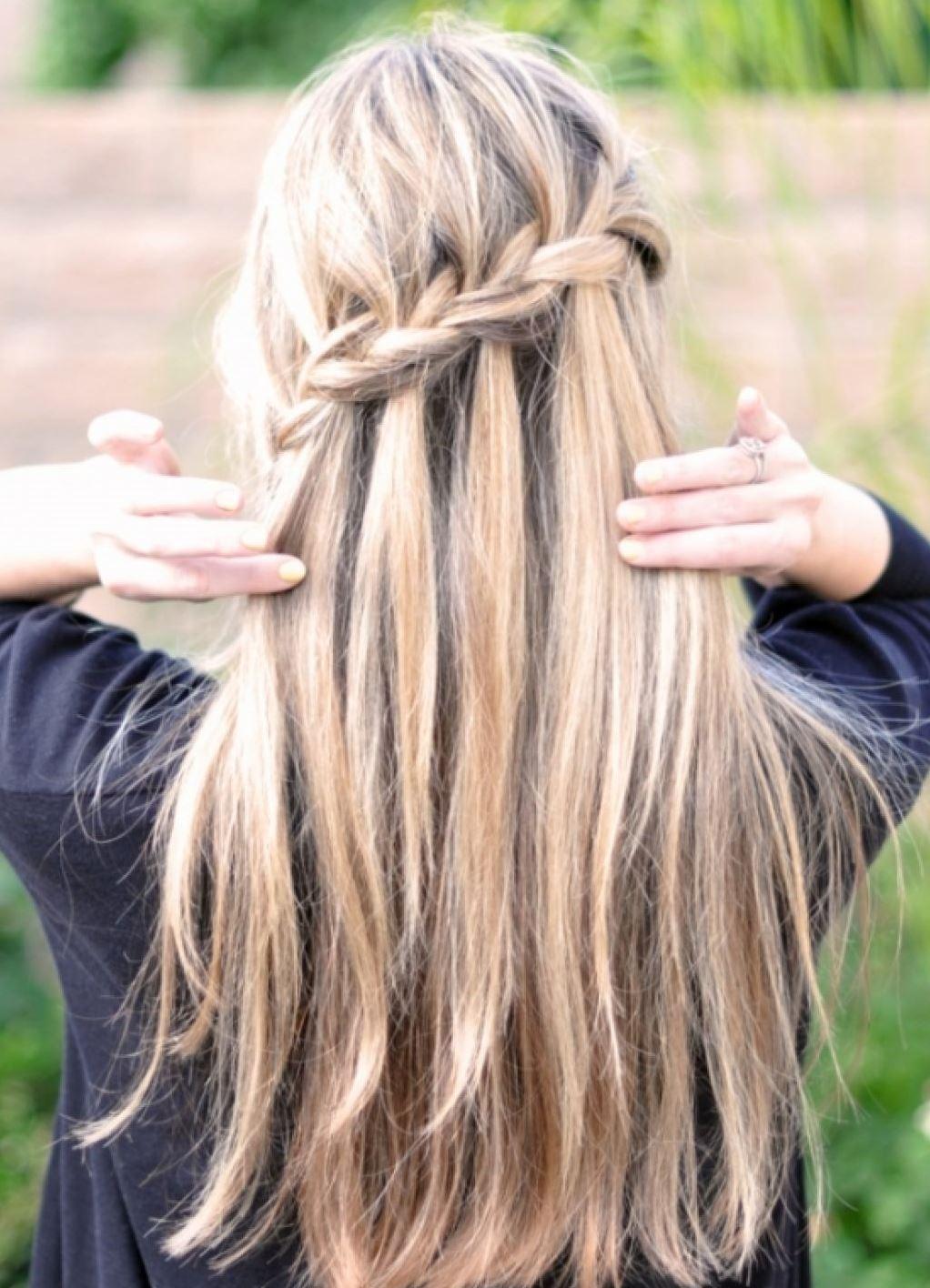 Красивы простые прически с длинным волосами