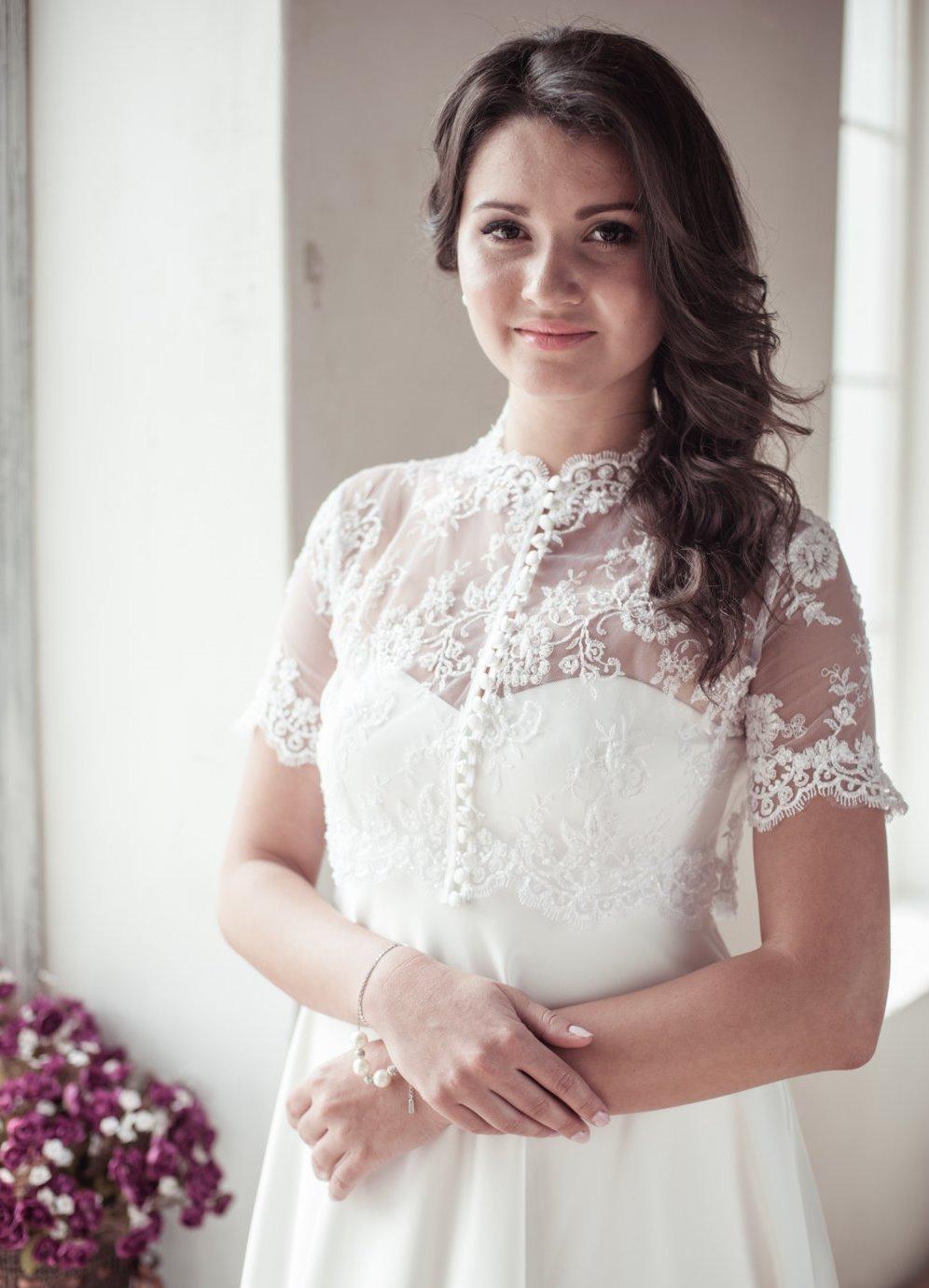 Болеро накидка на платье фото