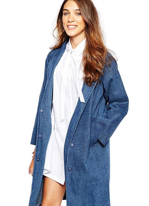 Джинсовое пальто женское