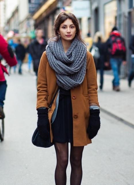 Как стильно сочетать палантин с пальто новые фото