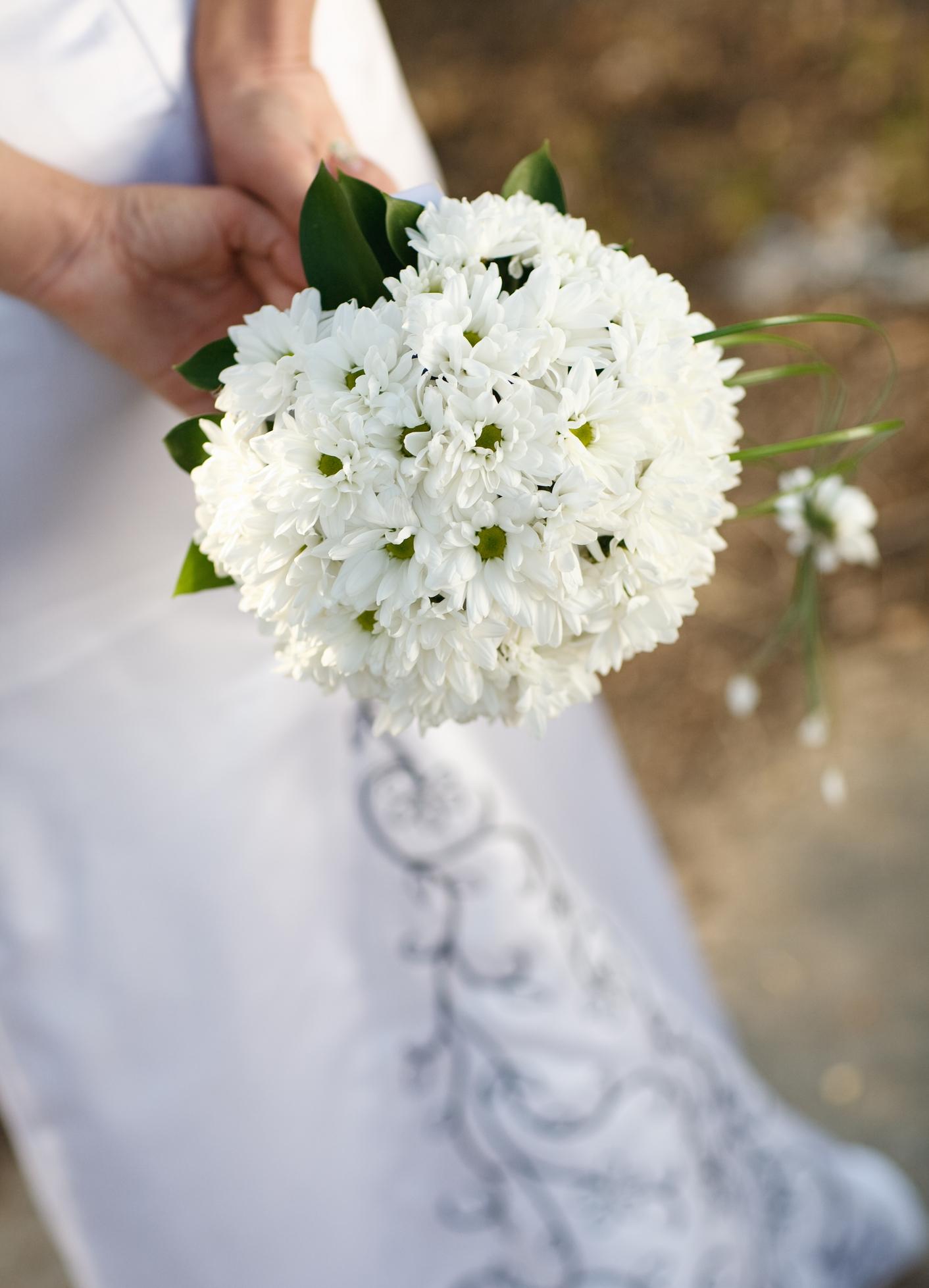 Свадебные букеты из хризантем и роз фото