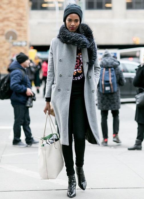 Уличная мода зима 2017 женские