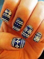Дизайн ногтей свитер – стильный зимний маникюр