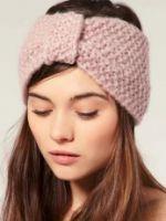 Вязаная повязка на голову – какую модель выбрать и как носить?