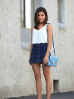 Джинсовая юбка – с чем носить и как создавать модные образы?
