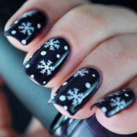 Зимний маникюр – 45 красивых идей для зимнего маникюра