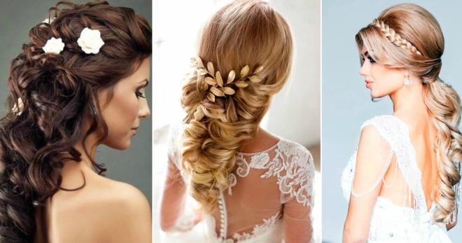 Греческая коса свадебные прически