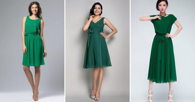 фото платье зеленое