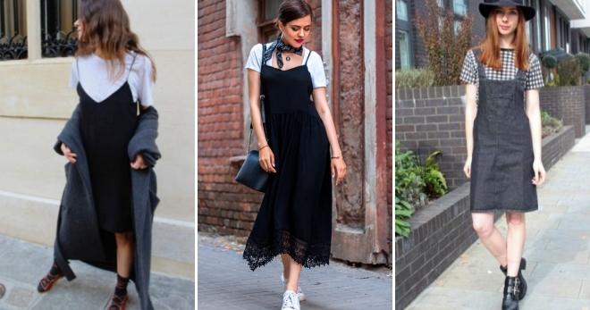 Сарафан с футболкой – как носить, чтобы выглядеть модно?