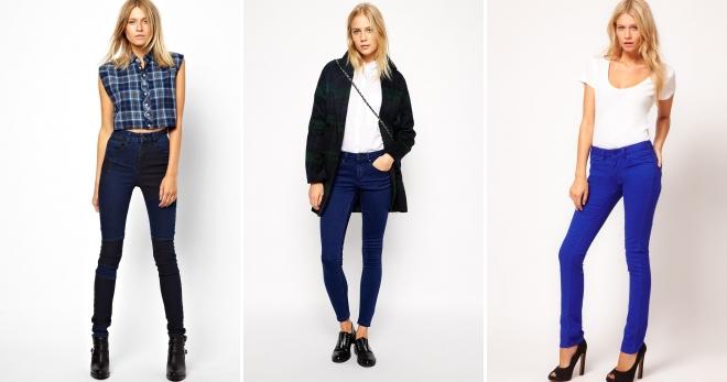 Синие джинсы – самые модные фасоны и с чем носить?