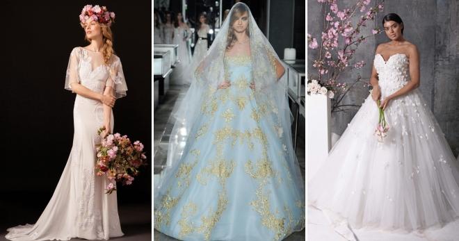 Модные и красивые свадебные платья 2018. Фото