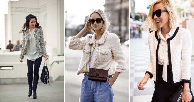 Жакет Шанель – с чем носить и как создавать модные образы?