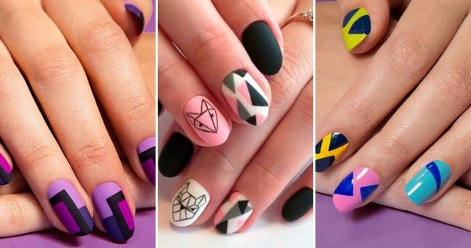 Маникюр «геометрия» – 38 фото красивых идей дизайна ногтей с геометрическим рисунком