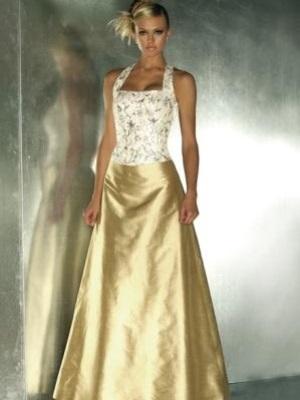 Бело золотое платье