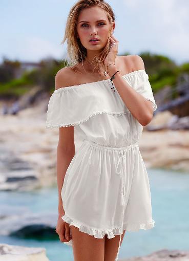 Белое пляжное платье фото