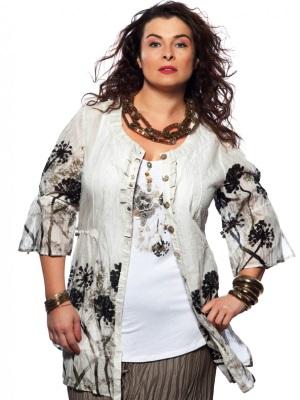 Мода блузки для полных