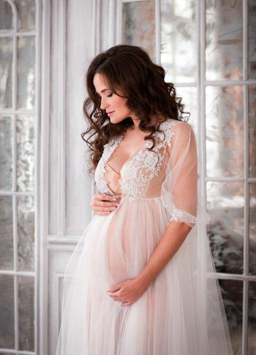 Будуарные платья для беременных