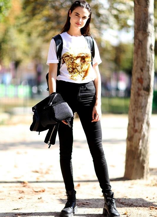 Черные джинсы американки женские 4