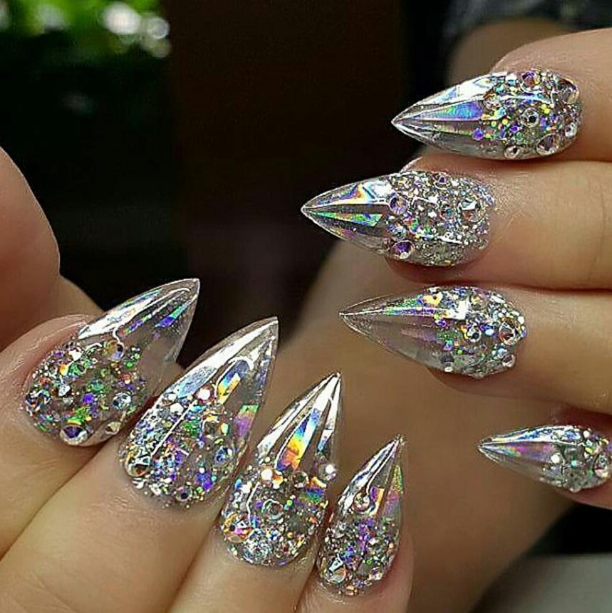 дизайн ногтей фото разбитое стекло