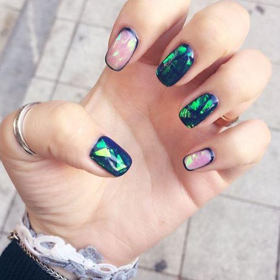 Дизайн ногтей битое стекло новинки