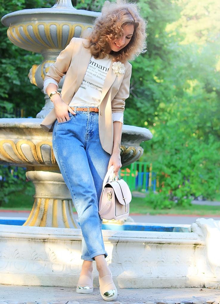 Mom джинс с чем носить