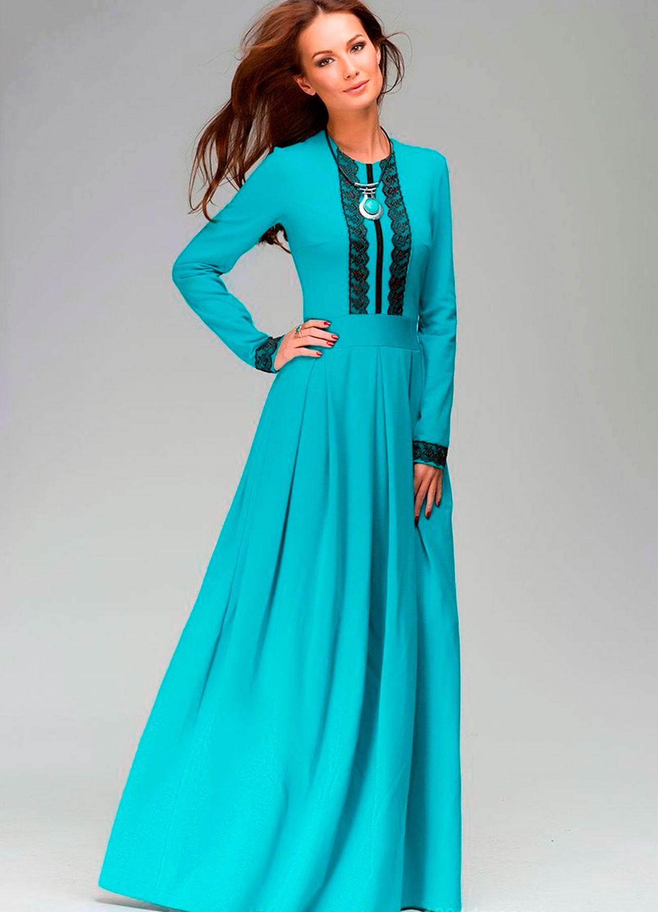 Платье Длинное С Длинным Рукавом Купить