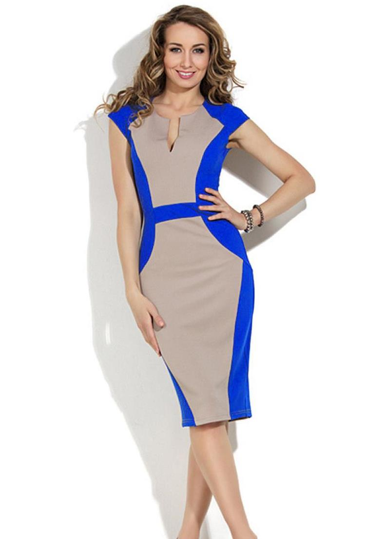 Фасон комбинированных платьев