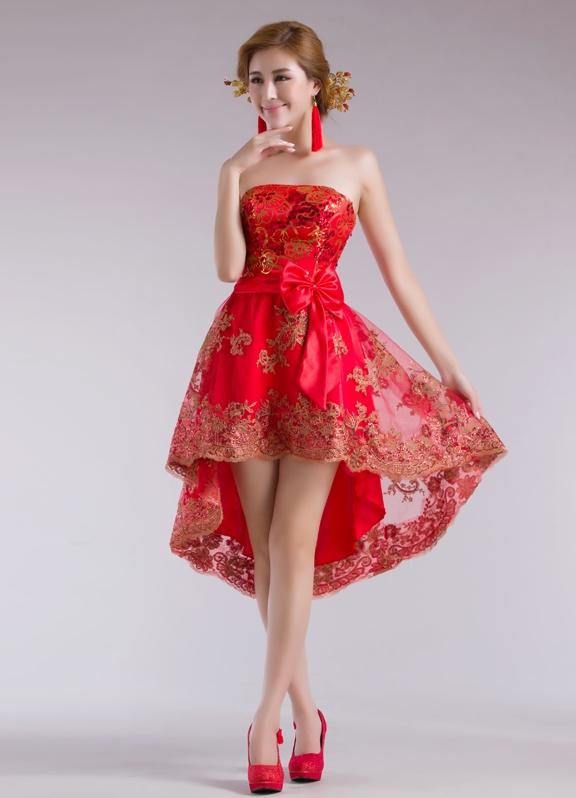 Выпускное красное платье фото